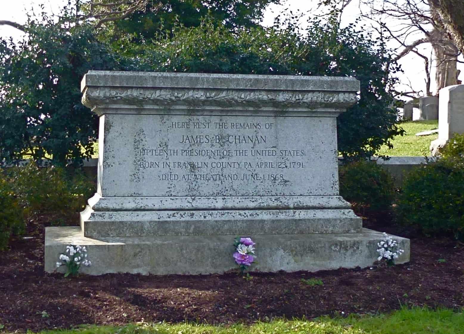 1868; buchanan tomb