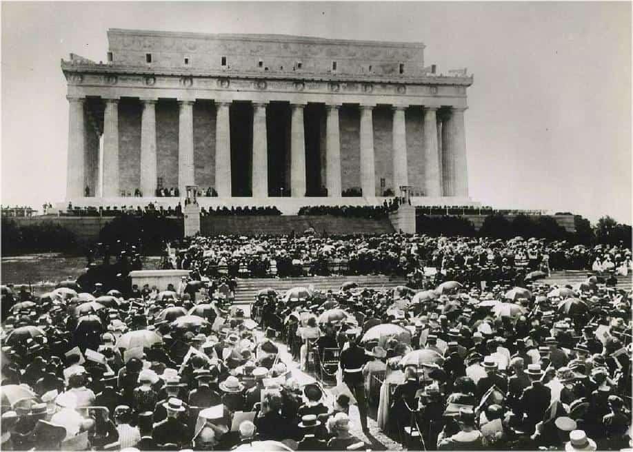 1922; Lincoln mem