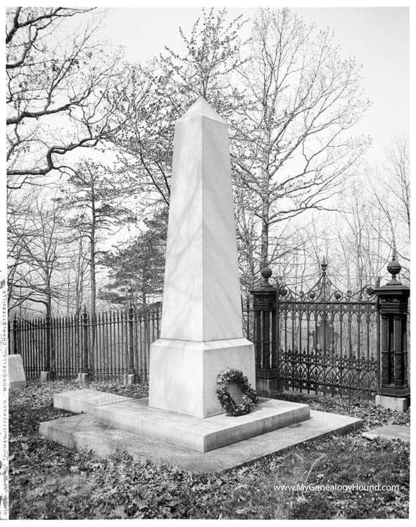 1825; Jefferson tomb