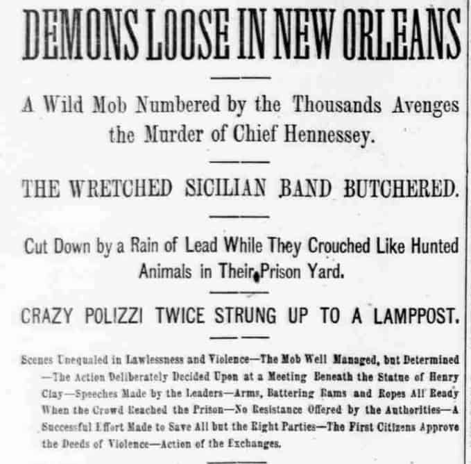 1891; Demons loose in New Orleans