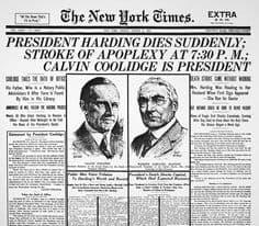 1923; HARDING DIES