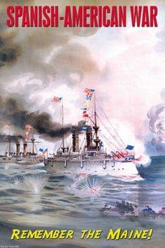 1898; SPANISH AMERICAN WAR