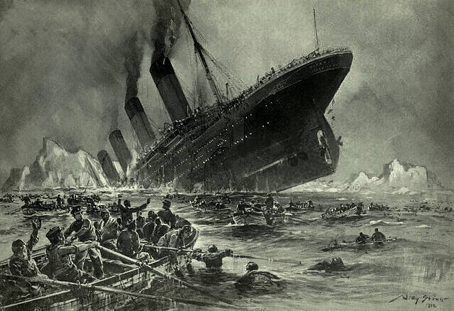 1912; Titanic sink
