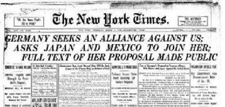 1917; TELEGRAM PAPER