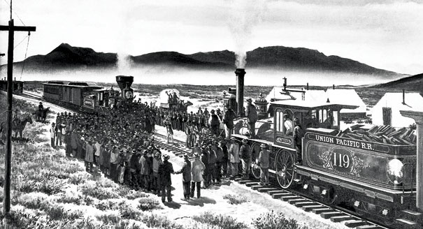 1869; TRANSCONTINENTAL RAILROAD