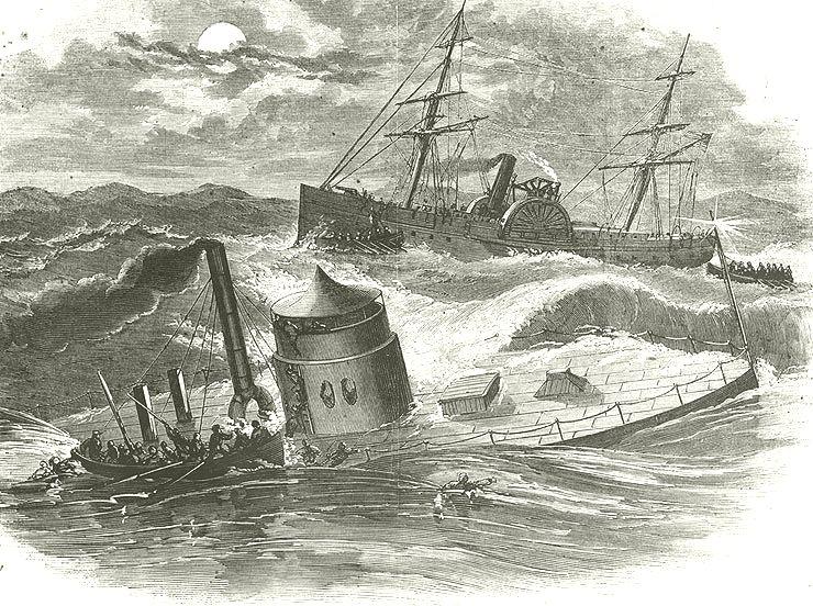 1862; USS MONITOR SINK