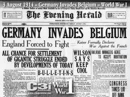 1914; WW1 PAPER
