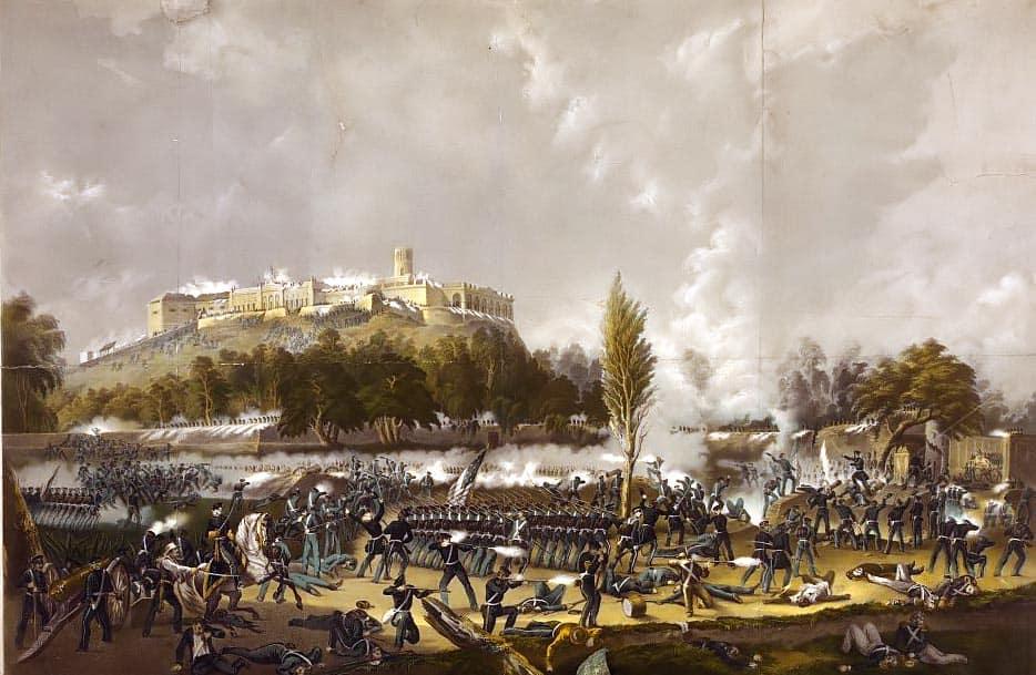 1853; battle-chapultepec