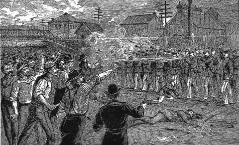 1877; great railroad strike