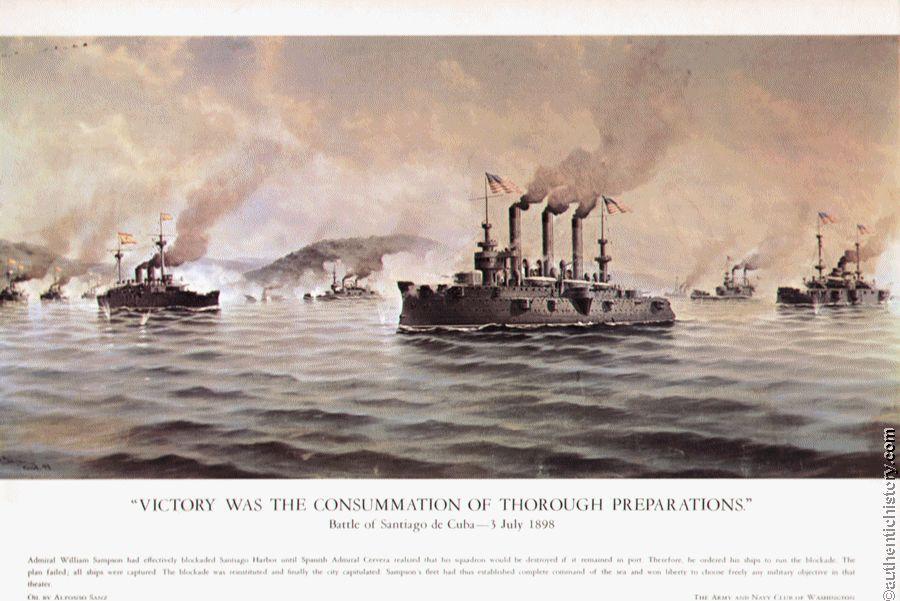1898; naval blockade