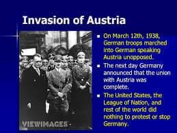 1938; austria invasion