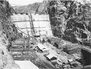 1930; hoover dam construction