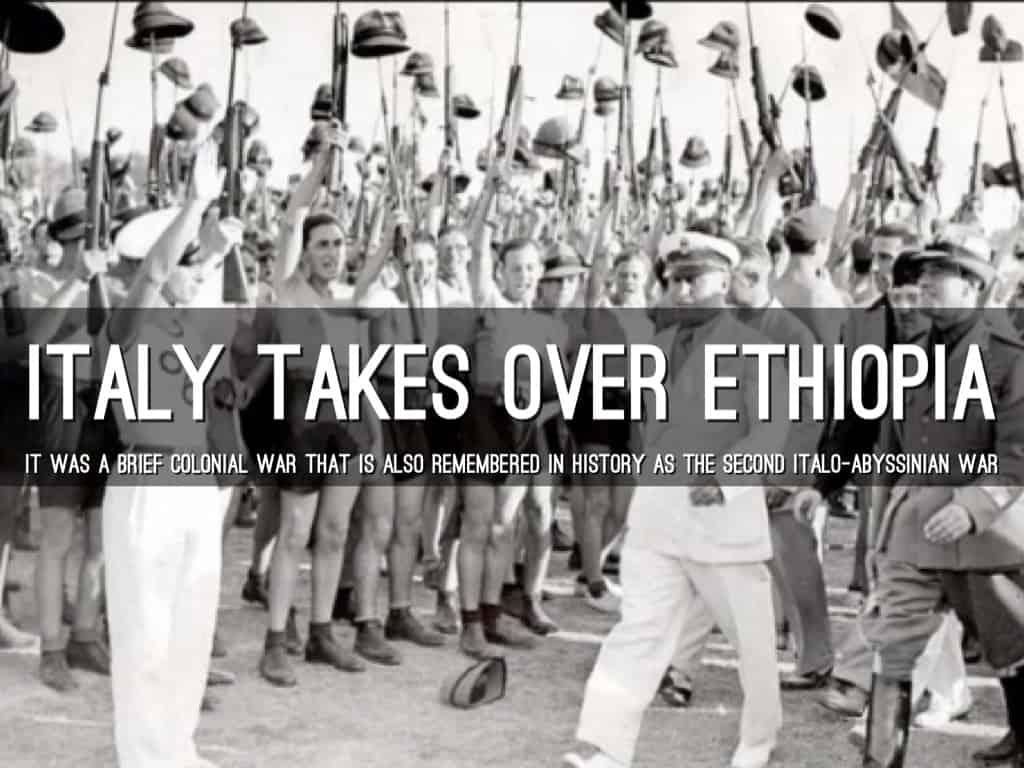 1936; Italy takes over Ethiopia