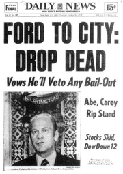 1975; ford to city headline