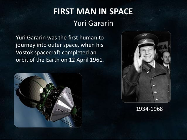 1961; FIRST MAN IN SPACE