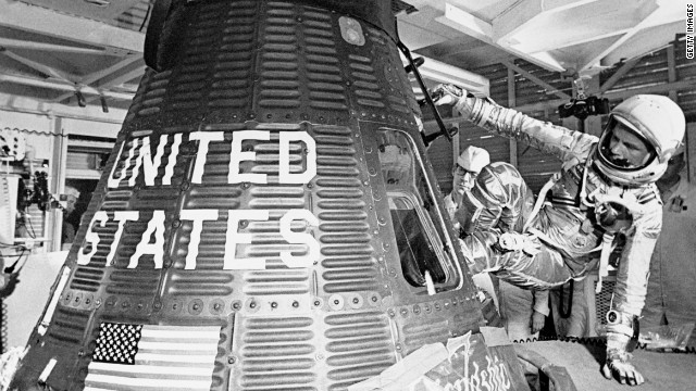 1962; FIRST ASTRONAUT TO ORBIT EARTH