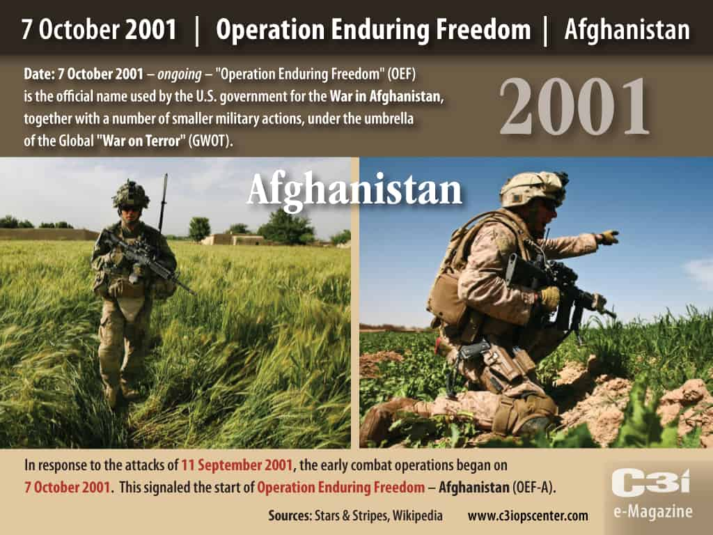 2001; OPERATION ENDURING FREEDOM