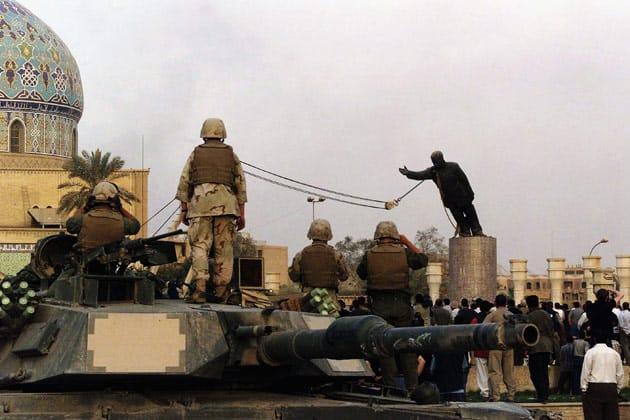 2003 saddam statue