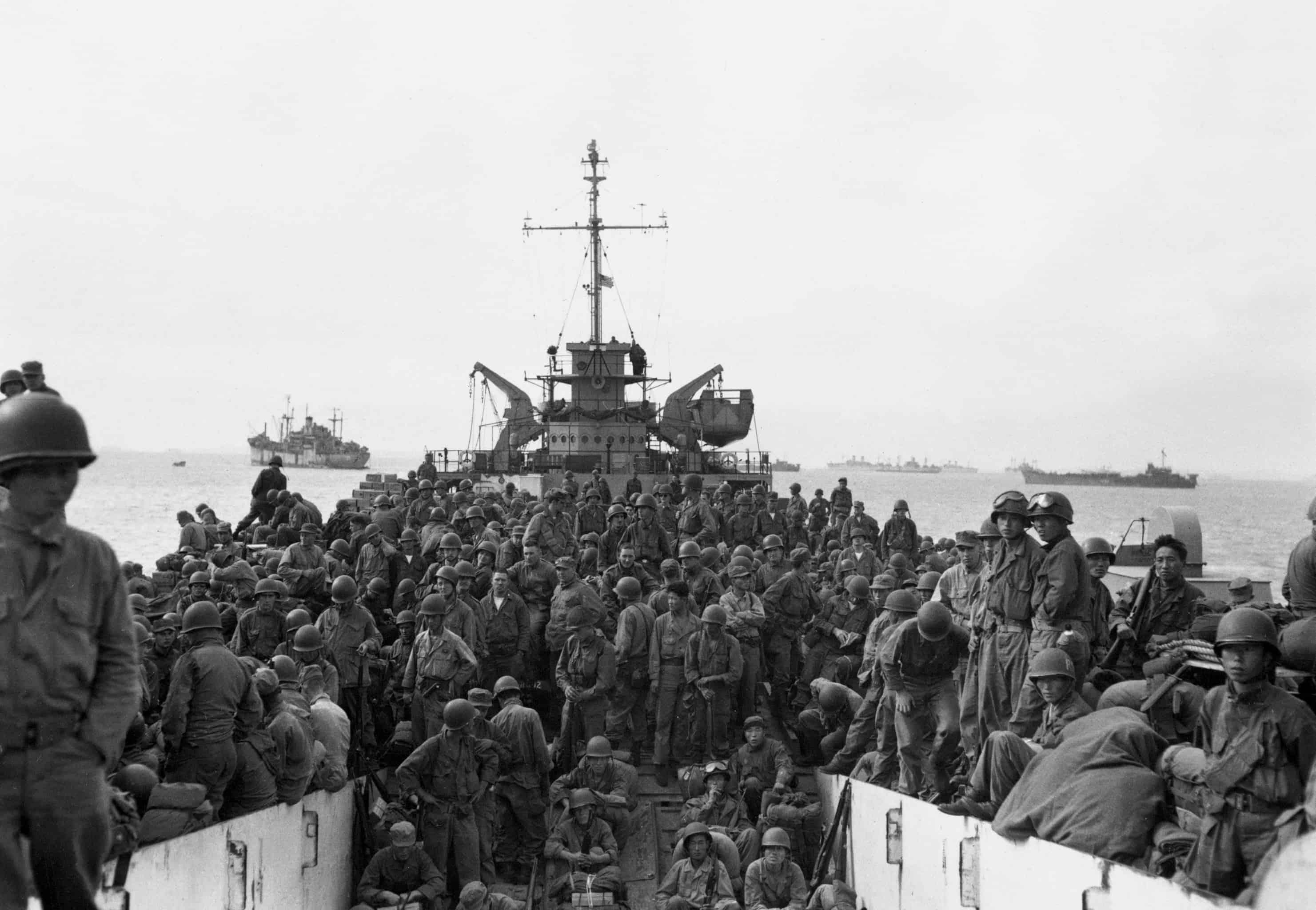 1950; u.s. troops land in south korea