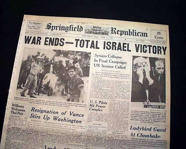 1967; 6 DAY WAR
