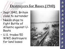 1940; DESTROYER TRADE