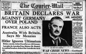 1939; Headlines-announce-WWII-2