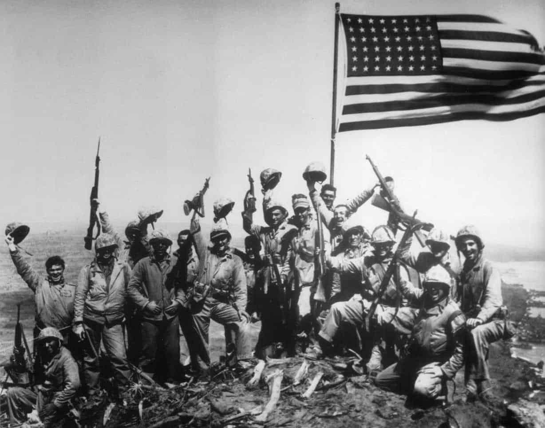 1945; capture of iwo jima