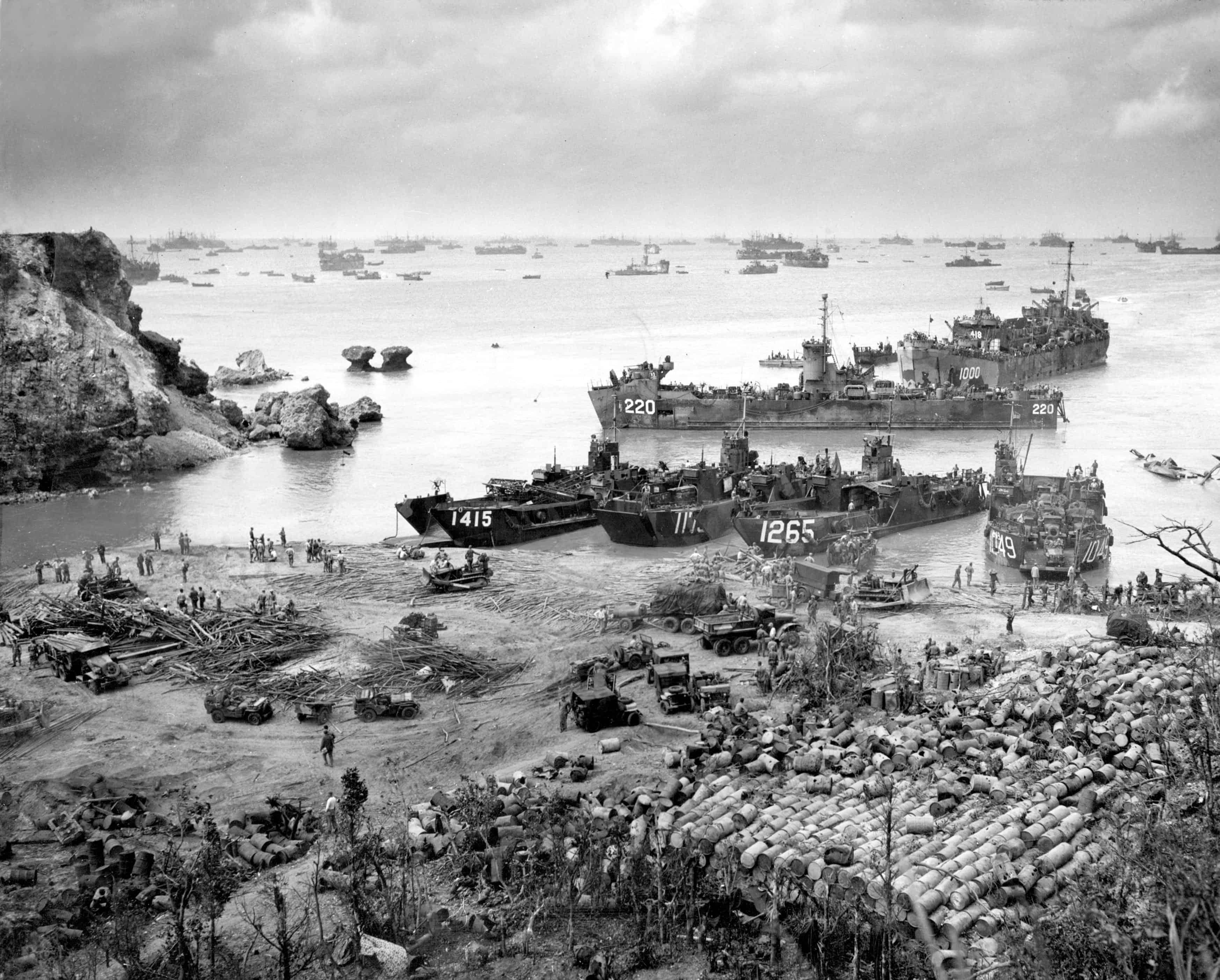 1945; capture of OKINAWA
