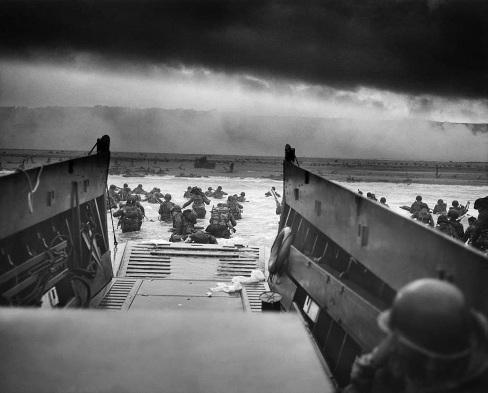 1944; allies invade normandy