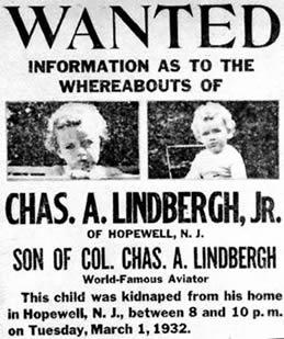 1932; lindbergh kidnapping