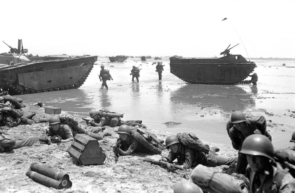 1944; marines in guam