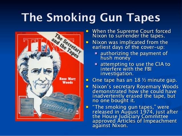 1974; smoking gun tapes