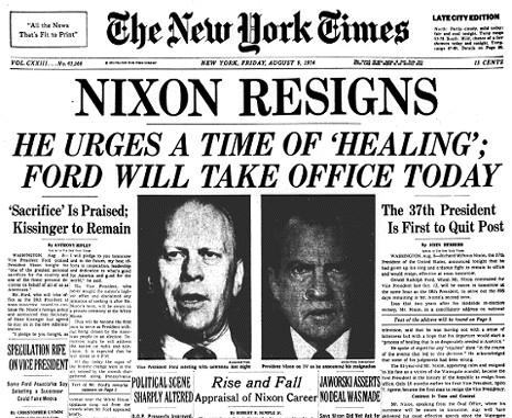 1974; nixonresigns_headline