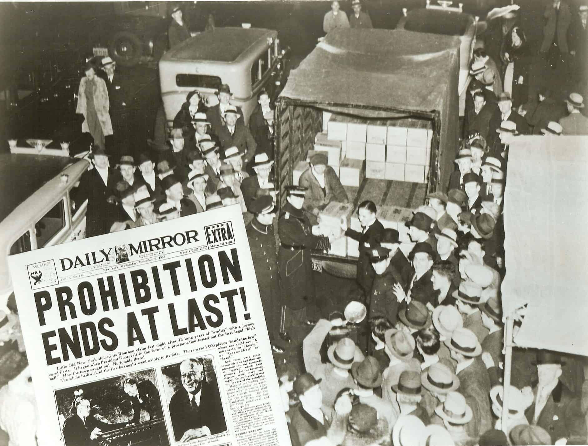 1933; prohibition end