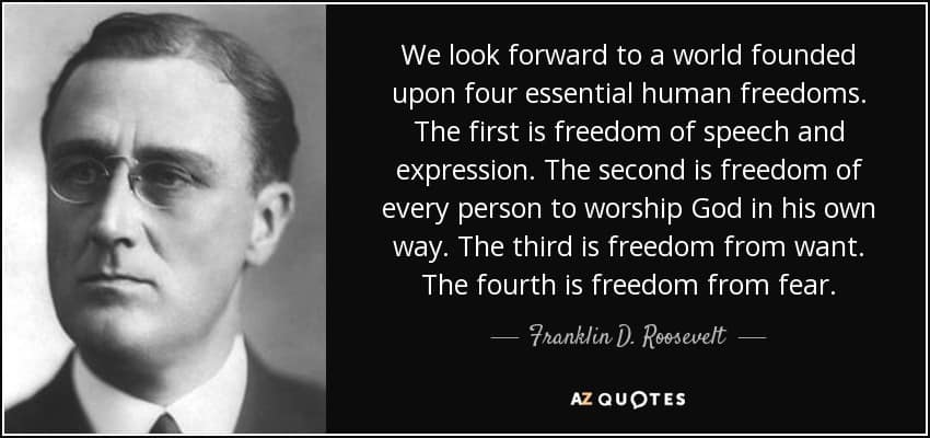1941; FDR quote