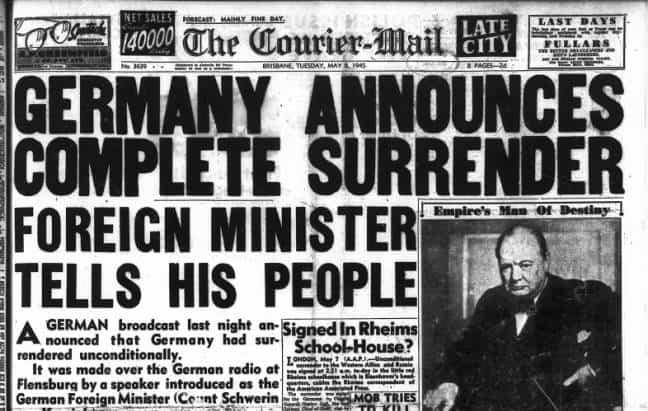 1945; germany surrender
