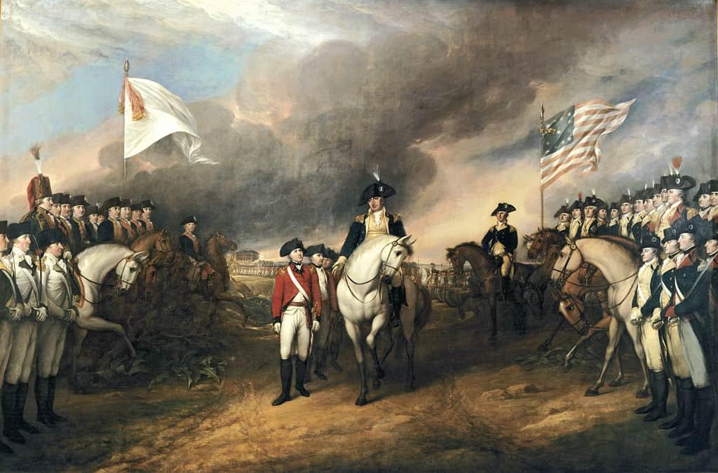 1781; surrender at Yorktown