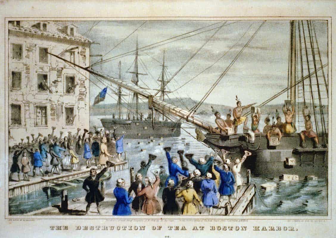 1773; BOSTON TEA PARTY
