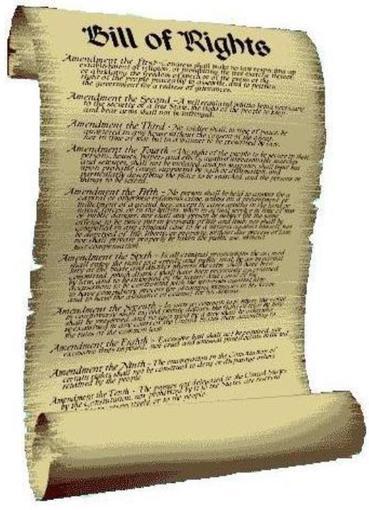 1791; bill of rights