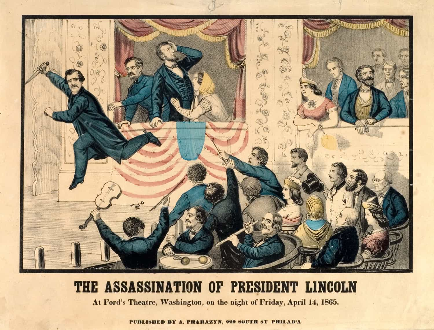 1865; The-Assassination-of-Abrham-Lincoln-print-full-color