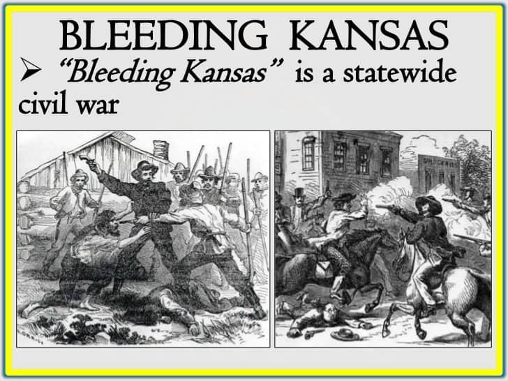 1854; bleeding kansas