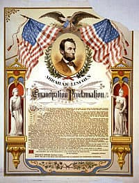1862; emancipation proclamation