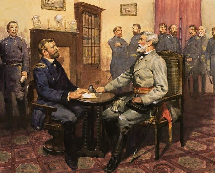 1865; lee surrenders to grant